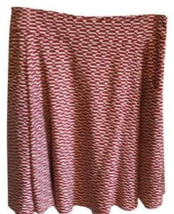 Anthropologie Mini Skirt rust and ivory