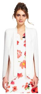 Adrianna Papell Blazer Cape Overcoat Wrap White Jacket