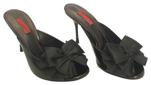 Dolce&Gabbana Patent Leather Bow Peep Toe Leather Black Pumps