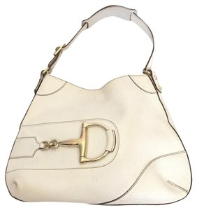 Gucci Leather Gold Hardware Pebbled Hobo Bag