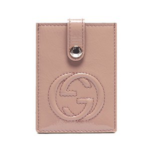 Gucci Gucci Patent Leather Business/Credit Card Holder Soho Collection Nude