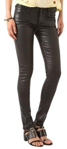 AG Adriano Goldschmied Leather Skinny Sexy Skinny Jeans-Coated