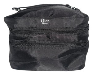 Dior Beauty Square Cosmetic Makeup Case Travel Nylon Large Double Decker