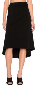 James Perse Pull Hi Low Style Longer In Skirt Black
