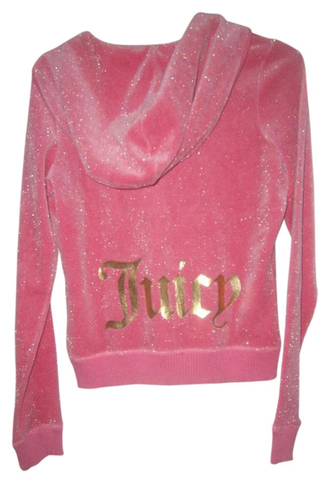 a6dd986792 Juicy Couture Pink Gold Metallic Sleeve Velour Long Sleeves ...