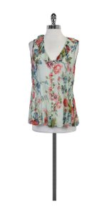 Nanette Lepore Light Blue Floral Print Top