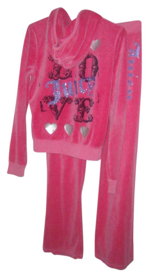 f03b1a0c0 Juicy Couture Pink Velour Pants Set Sweatshirt/Hoodie Size 6 (S ...
