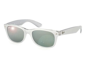 Ray-Ban RB2132-614440 Wayfarer Unisex Transparent Frame Green lens Sunglasses