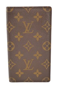 Louis Vuitton Authentic Monogram Canvas Long Wallet Bi-Fold
