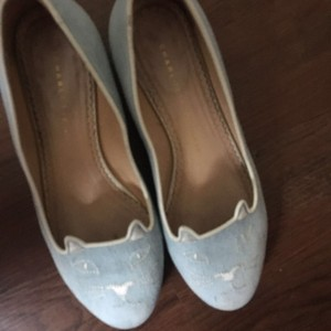 Charlotte Olympia baby blue Flats
