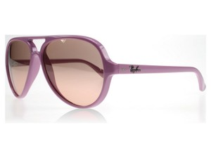 Ray-Ban RB4125-738-3E Cats Unisex Lilac Frame Pink lens Sunglasses NWT