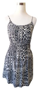 Poetry short dress Black and white Bohemian Aztec Festival on Tradesy