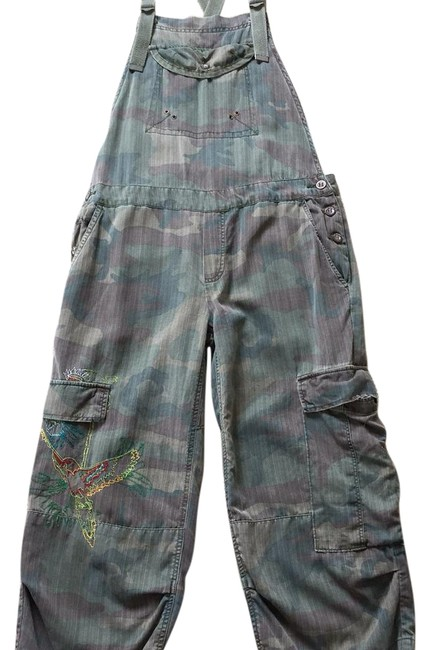 Item - Camo Overalls Cargo Jeans Size 28 (4, S)