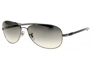 Ray-Ban RB8301-004-32 Aviator Unisex Silver Frame Grey lens Sunglasses
