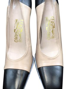 Salvatore Ferragamo beige and black Pumps