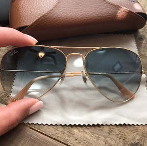 Ray-Ban light blue aviators