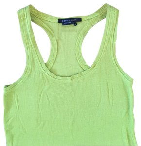 BCBGMAXAZRIA Ribbed Racerback Sleeveless Knit Top Yellow, Chartreuse