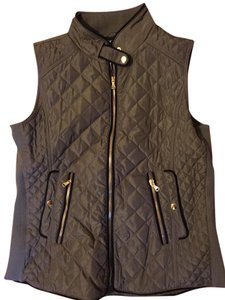 FATE Gold Zippers Quilted Vest