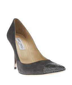 Jimmy Choo Suede Grey Pumps