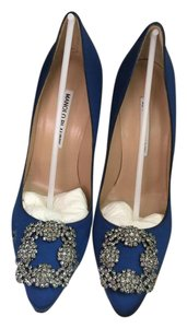 Manolo Blahnik Hangisi Heels Mb Blue Pumps