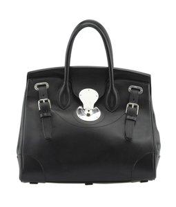 Ralph Lauren Leather Satchel in Black