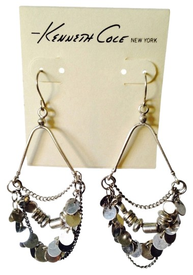 Kenneth Cole Silver-Tone Multi-Strand Shaky Earrings