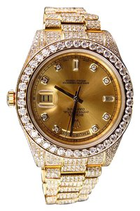 Rolex Mens Rolex Day-Date 2 Presidential 41MM with 30 Ct VS Diamond