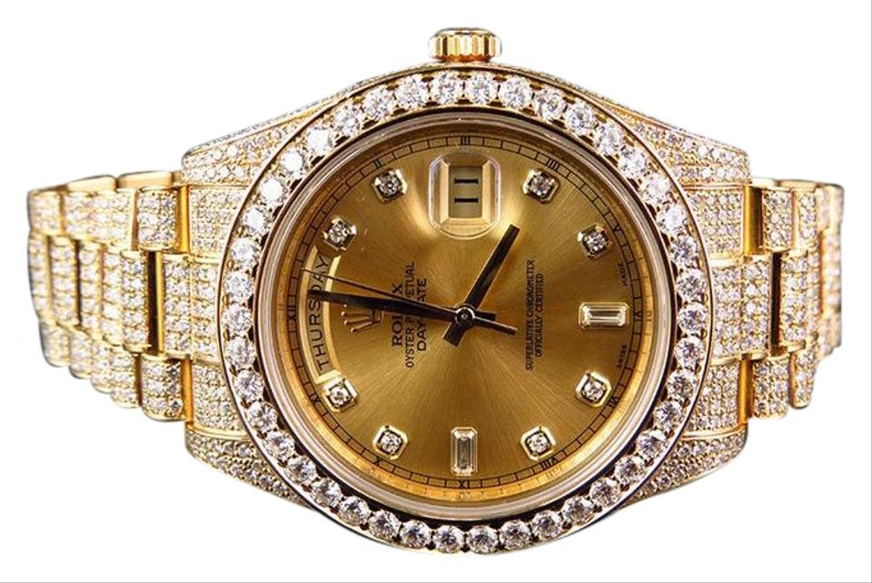Rolex 18k Yellow Gold Mens Day Date 2 Presidential 41mm With 30 Ct Vs Diamond Watch 44 Off Retail