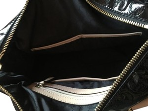 Michael Kors Satchel in Black with beige leather trim