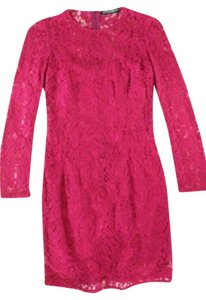 Dolce&Gabbana short dress Pink Dolce & Gabbana Sheath Lace on Tradesy