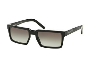 Prada PR03SS-1AB0A7 Rectangular Men's Black Frame Grey lens Sunglasses