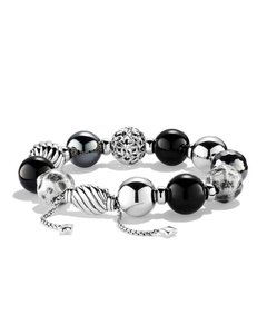 David Yurman DY Elements Bead Bracelet with Black Onyx and Hematite