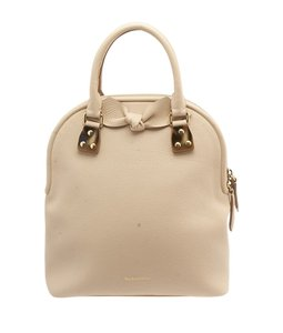 Burberry Leather Tote in Cream