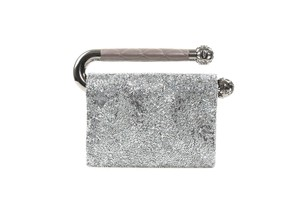 Chanel Runway Crystal Silver Clutch