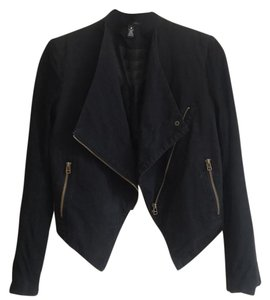 Aqua black with gold zippers Blazer