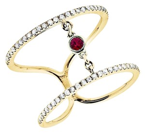 Other Stack Orbit Strand Ruby Fashion Cocktail Diamond Ring 0.50ct