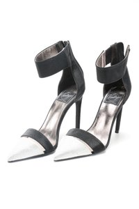 Jeffrey Campbell Evening Ankle Strap black and silver Pumps
