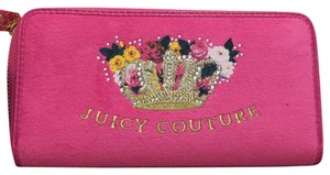 Juicy Couture Beautiful Classic Juicy Pink Velour Wallet