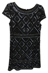 Adrianna Papell Sequin Detail Dress