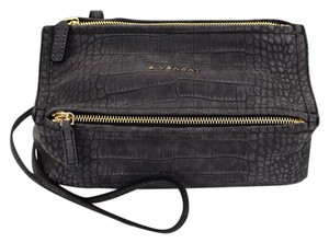 Givenchy Embossed Shoulder Mini Suede Cross Body Bag