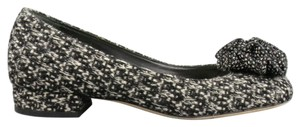 Chanel Ballet Camellia Black and White Flats