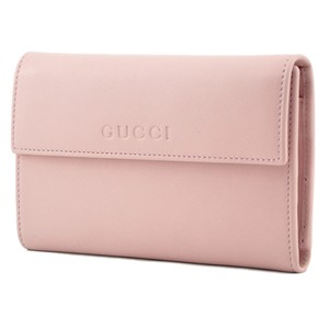 Gucci Gucci Women's Leather French Flap Wallet 346057 5851 Light Pink