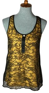 Miguelina Top Gold/Black