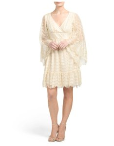 Betsey Johnson Ivory Bohemian Bell Sleeves Dress