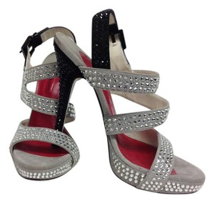 Cesare Paciotti Crystal Grey Sandals