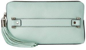 MILLY Astor Leather Clutch Satchel in Mint
