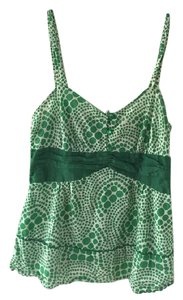 Anthropologie Top Green/White