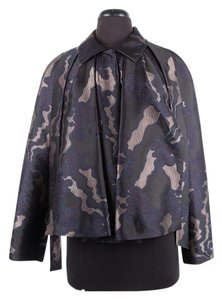 Dries van Noten Silk Embroidered Black Jacket