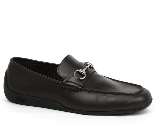 Gucci Brown Men's Leather Horsebit Moccasin Loafer 11g/ Us 11.5 295314 2140 Shoes