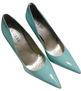 Guess Pointed Toe Classic Heels Blue green Pumps
